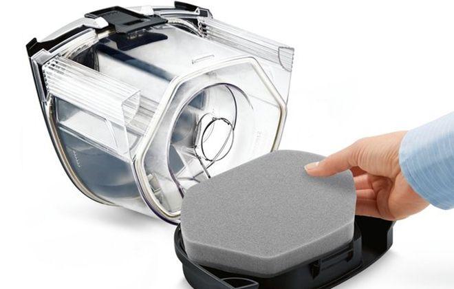 Контейнер для пыли и паролоновый фильтр