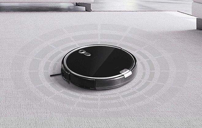 Робот-пылесос iLife A8 в работе