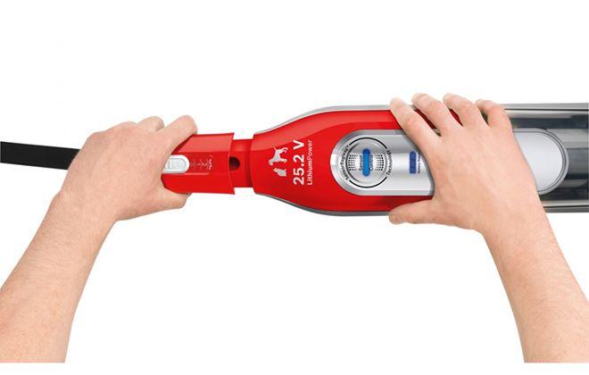 Смена насадки ручного пылесоса Bosch BCH6ZOOO