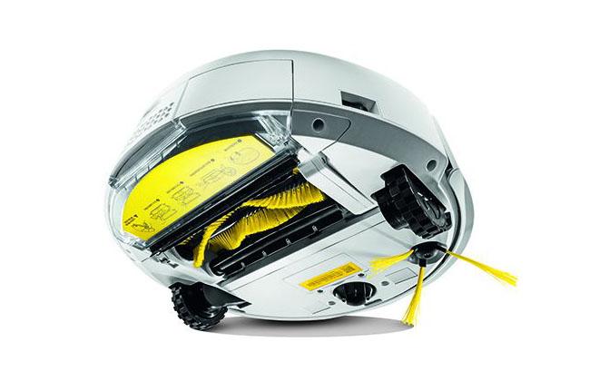 Автоматический пылесос от Karcher с обратной стороны