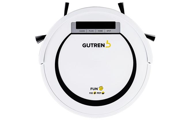 Белый робот-пылесос Gutrend