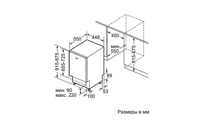 Габариты Bosch SPV25DX10R