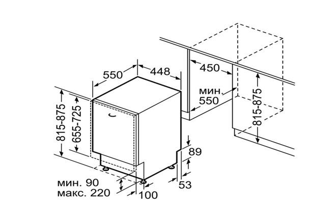 Габариты Bosch SPV45DX10R