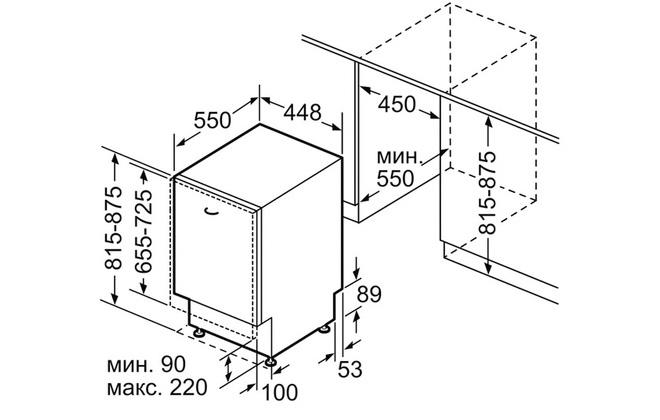 Габариты Bosch SPV66MX30R