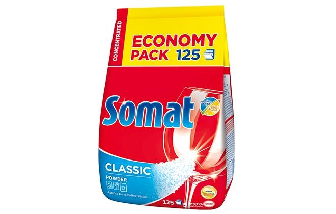 Красный пакет порошка Somat standard