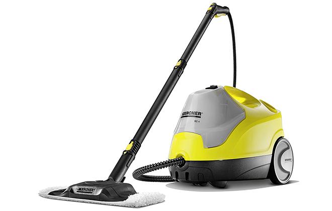 Паровой очиститель Karcher SC 4 желтого цвета