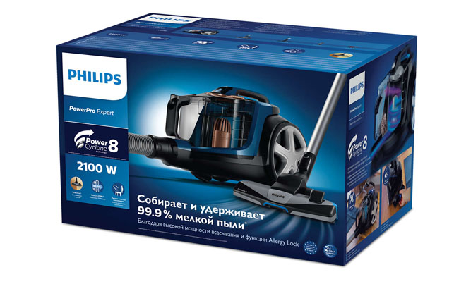 Philips FC9733 в упаковке