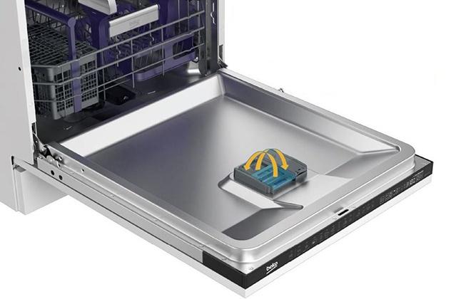 Резервуары для моющего средства в дверце посудомойки