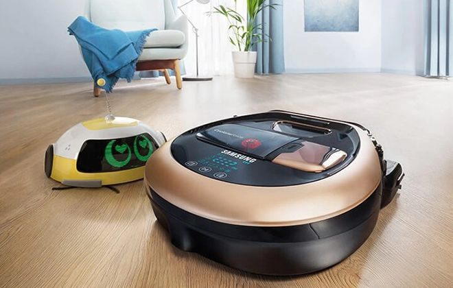Робот-пылесос Самсунг в работе
