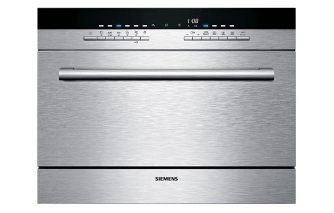 Серебристая посудомоечная машина Siemens SK76M544
