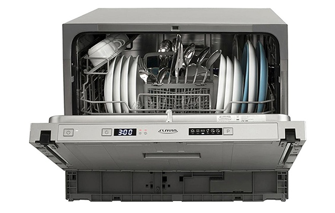 Серебристая посудомойка Flavia CI 55 HAVANA P5