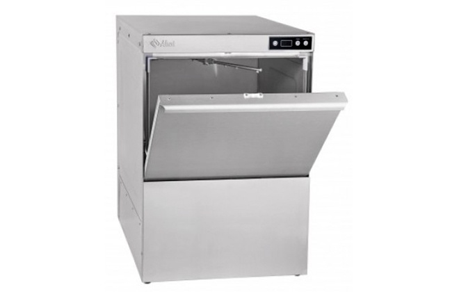 Серебристая посудомойка МПК-500Ф