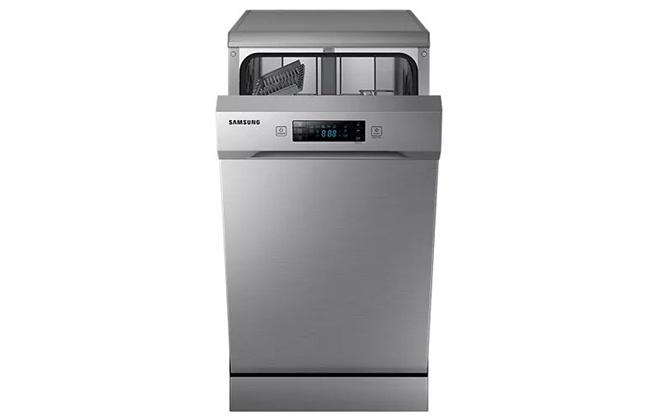 Серебристая посудомойка Samsung DW50H