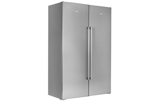 Серебристый холодильник Vestfrost VF395-1SBW