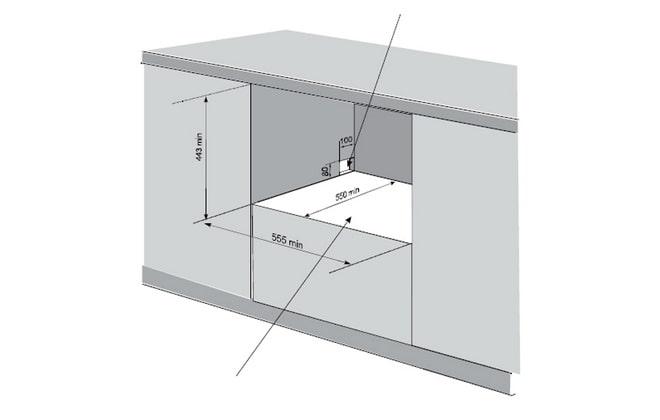 Схема монтажа в нишу