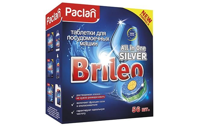 Синяя упаковка Paclan brileo