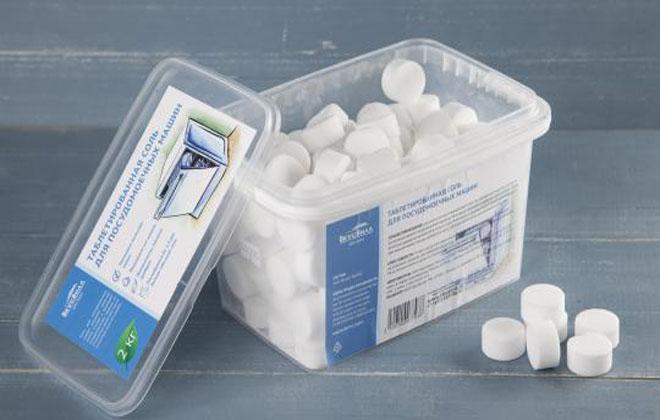 Таблетки из соли для ПММ