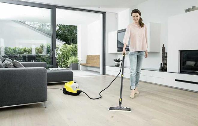 Уборка дома с помощью парового очистителя