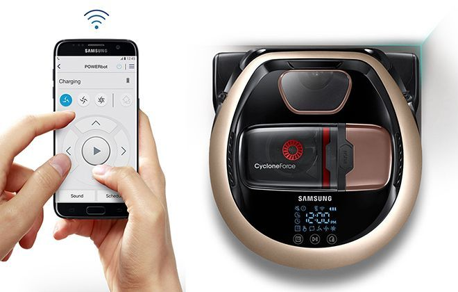 Управление пылесосом с помощью смартфона