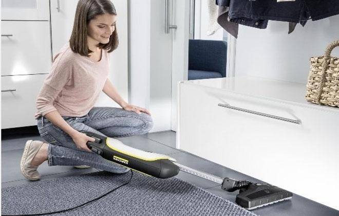 Вертикальная модель KARCHER при уборке ковров