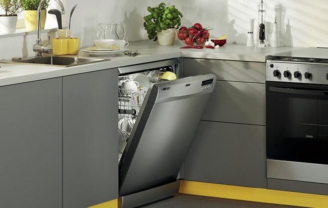Встроенная в гарнитур посудомоечная машина