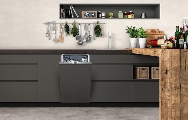 Встроенная в гарнитур посудомойка Neff
