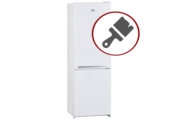 Белый двухкамерный холодильник Beko