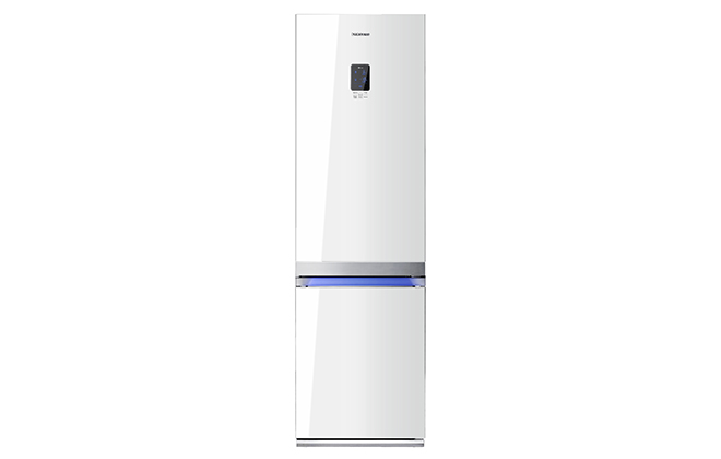 Белый двухкамерный холодильник Samsung