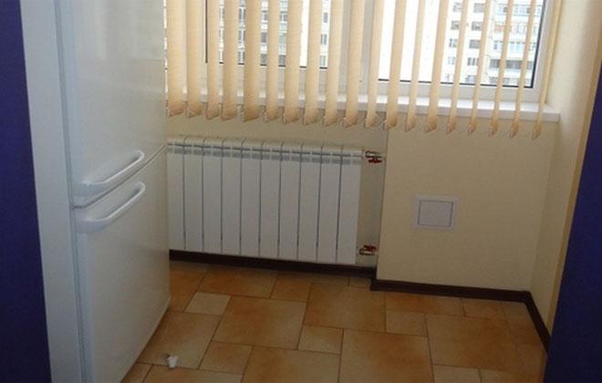 Холодильник рядом с отоплением