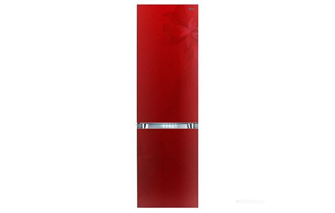 Красный дизайнерский холодильник LG GA-B489TGRF