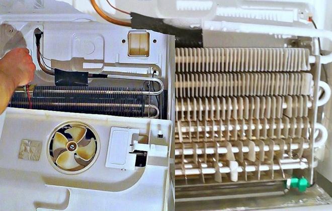Ремонт вентилятора в холодильнике
