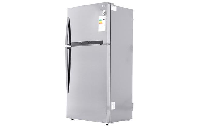 Серебристый холодильник LG GR-M802HMHM