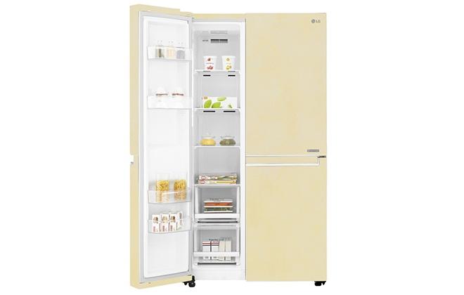 Бежевый холодильник LG GC-B247SEUV