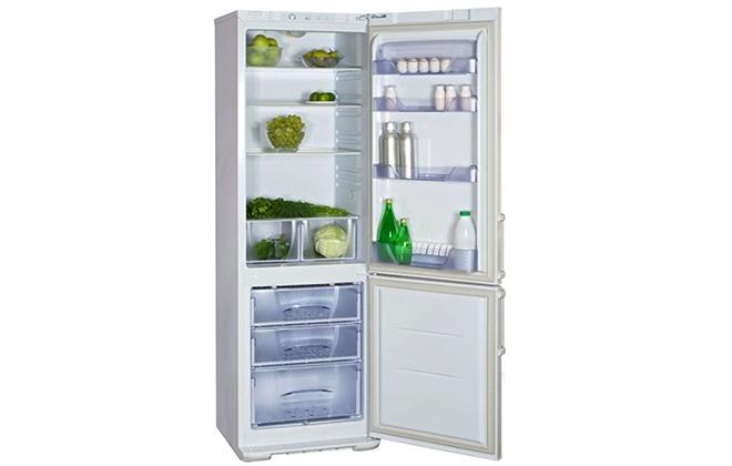 Холодильник Бирюса 127 с продуктами