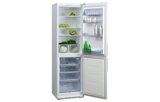 Холодильник Бирюса 149 с продуктами