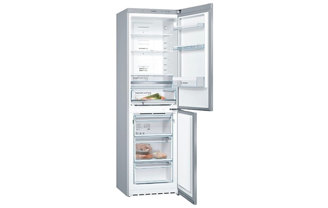 Холодильник Bosch Serie 4 KGN39VL1MR с открытыми дверцами