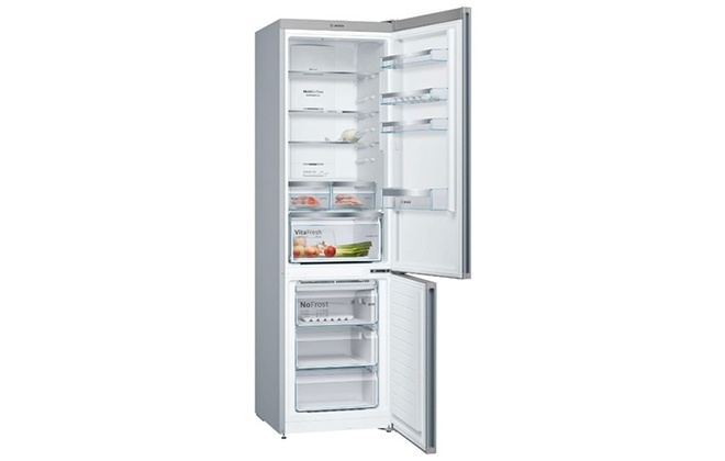 Холодильник Bosch Vitafresh Serie 4 KGN39Xl2AR с открытыми дверцами