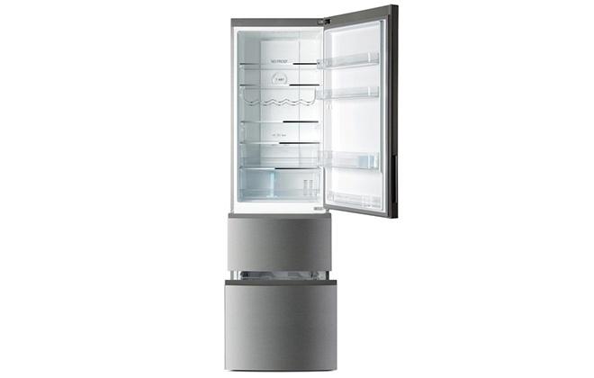 Холодильник Haier A2F637CXMV с открытой верхней дверцей