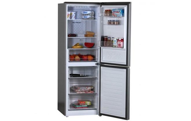 Холодильник Haier C3F532CMSG с продуктами