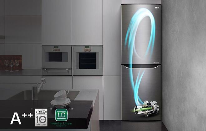 Холодильник LG GA-B419SLJL на кухне