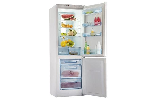 Холодильник Pozis с продуктами