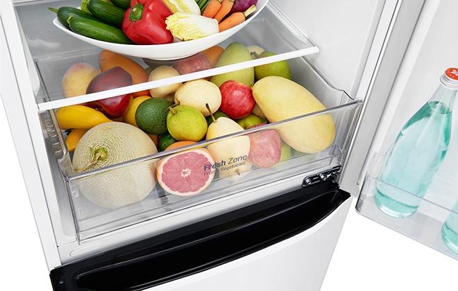 Овощи и фрукты в ящике холодильника LG GA-B419SQJL