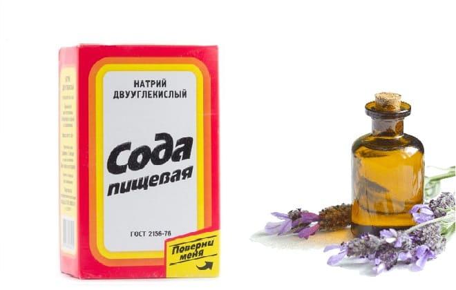 Сода и эфирное масло