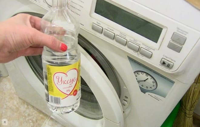 Как можно почистить стиральную машину уксусом