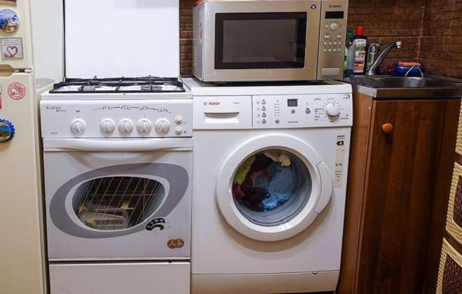 Можно ли дома ставить микроволновку на стиральную машину автомат