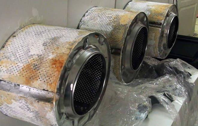 Налет и загрязнения барабана