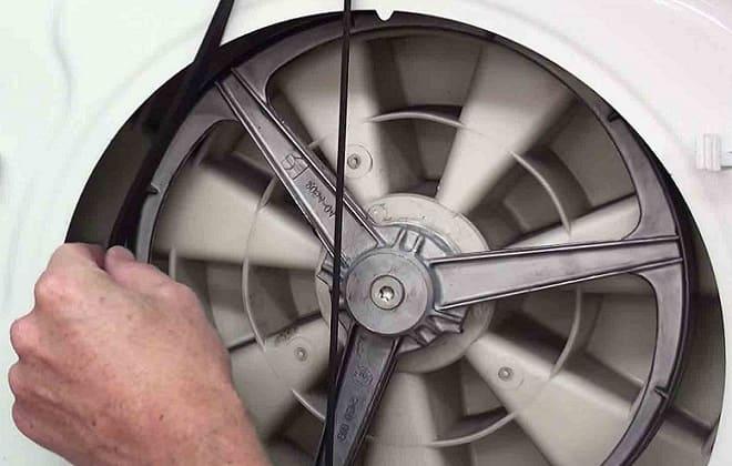 Обрыв приводного ремня в стиралке