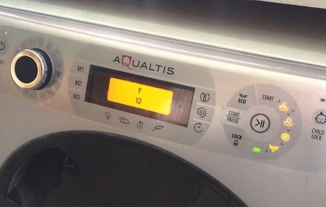 Ошибка F12 на табло стиральной машины Аристон