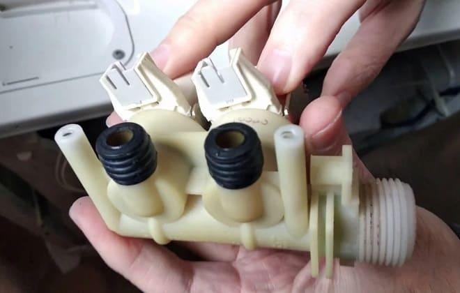 Ремонт впускного клапана воды стиралки