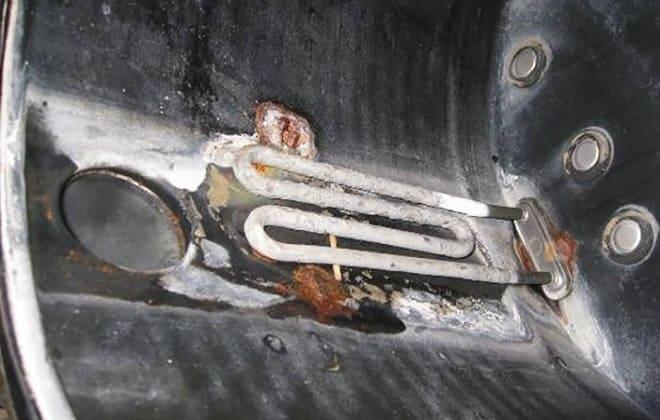 Сгоревший ТЭН в стиралке